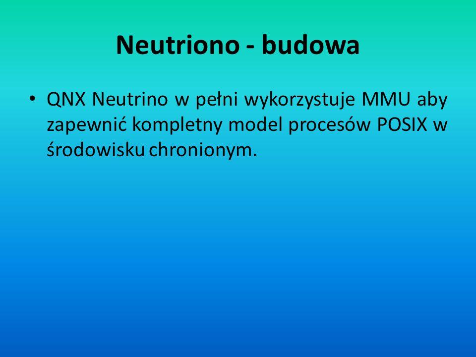 QNX Neutrino w pełni wykorzystuje MMU aby zapewnić kompletny model procesów POSIX w środowisku chronionym.