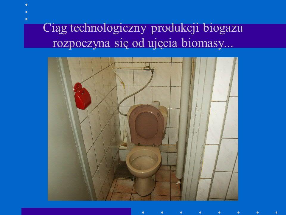 Ciąg technologiczny produkcji biogazu rozpoczyna się od ujęcia biomasy...