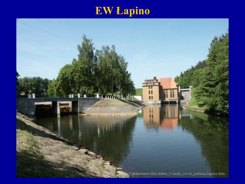 EW Bielkowo ( moc 7200kW, spad 44.8 m) Zlokalizowana w 26,5 kilometrze rzeki, pomiędzy stopniami energetycznymi Straszyn i Łapino.