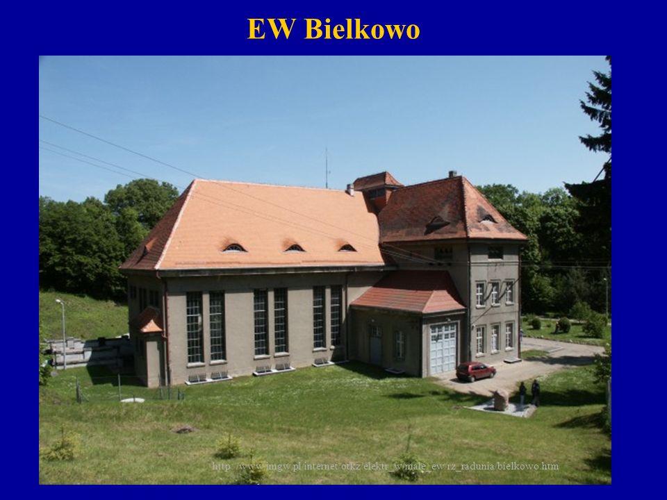 EW Straszyn ( moc 2450 kW, spad 14.9 m) Zlokalizowana na km 23+500 rz.