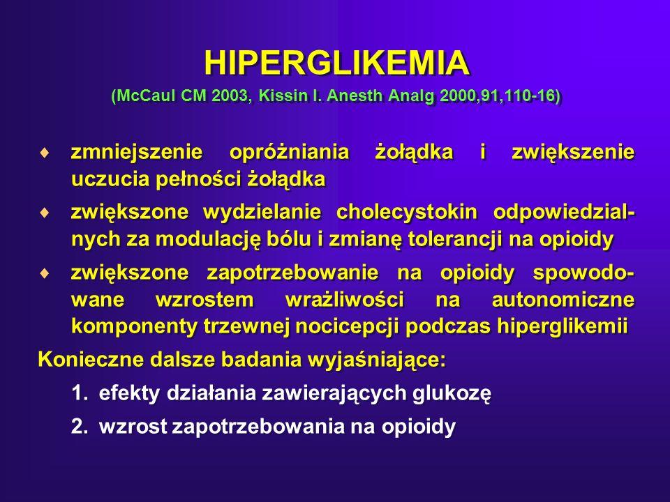 HIPERGLIKEMIA (McCaul CM 2003, Kissin I.
