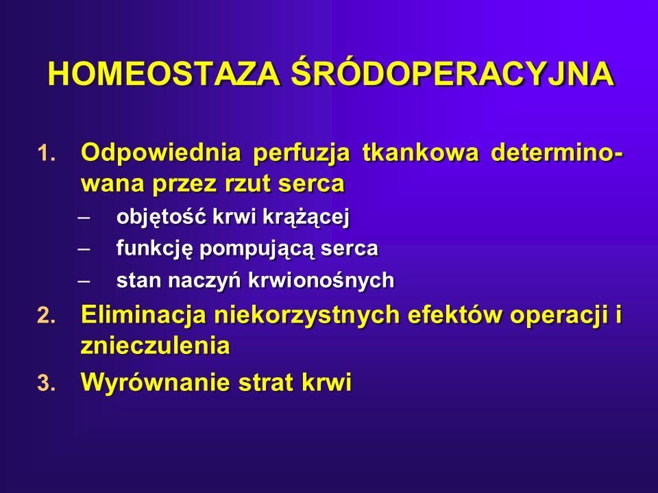 HOMEOSTAZA ŚRÓDOPERACYJNA 1.
