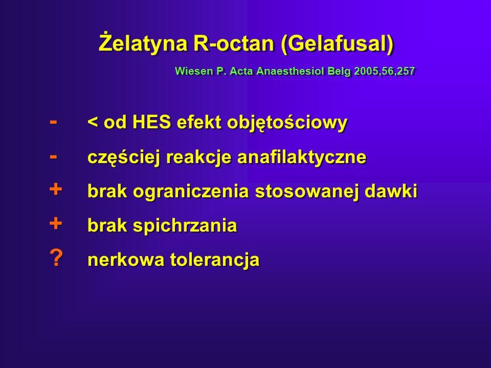Żelatyna R-octan (Gelafusal) Wiesen P.