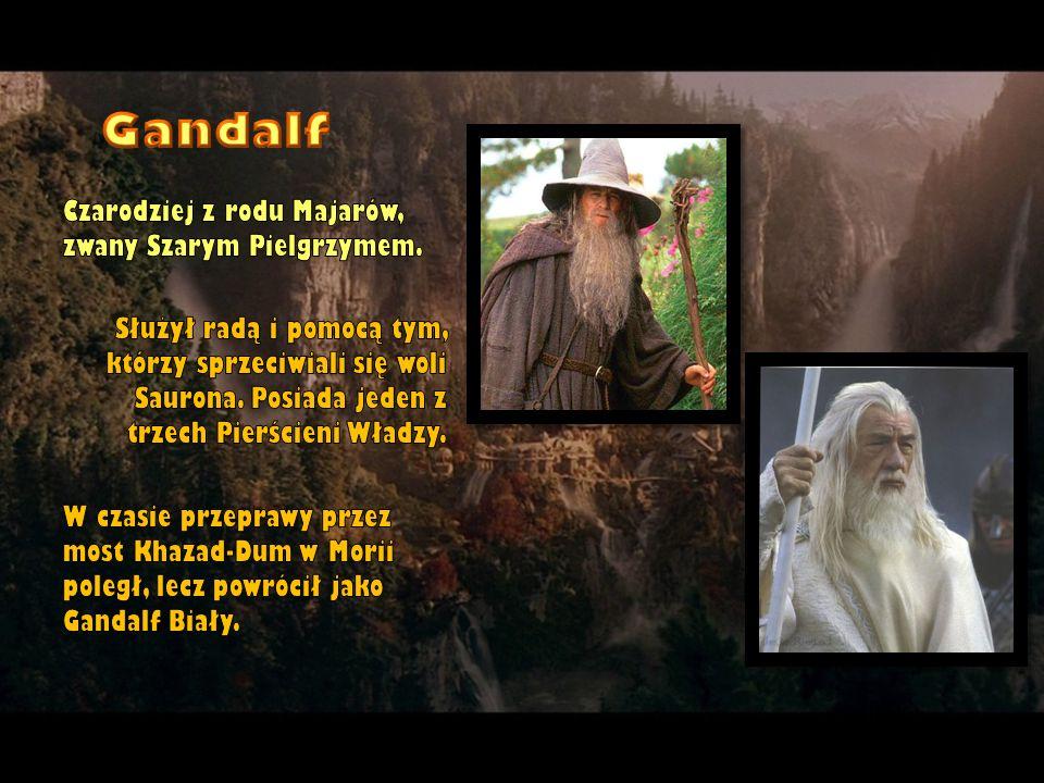 Czarodziej z rodu Majarów, zwany Szarym Pielgrzymem. Służył radą i pomocą tym, którzy sprzeciwiali się woli Saurona. Posiada jeden z trzech Pierścieni