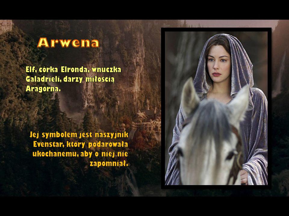 Elf, córka Elronda, wnuczka Galadrieli, darzy miłością Aragorna. Jej symbolem jest naszyjnik Evenstar, który podarowała ukochanemu, aby o niej nie zap