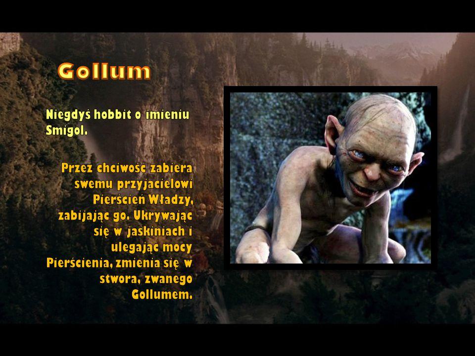 Niegdyś hobbit o imieniu Smigol. Przez chciwość zabiera swemu przyjacielowi Pierścień Władzy, zabijając go. Ukrywając się w jaskiniach i ulegając mocy