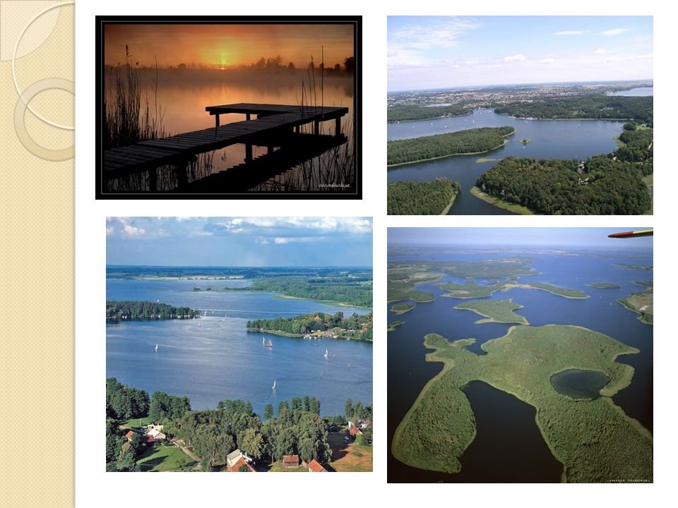 Pojezierze Pomorskie Liczne jeziora – największe z nich to: Jeziorak, Drawsko, Lubie Kompleksy leśne : Bory Tucholskie, Puszcza Drawska, Największe miasta: Bydgoszcz, Toruń Wiele terenów wojskowych, m.