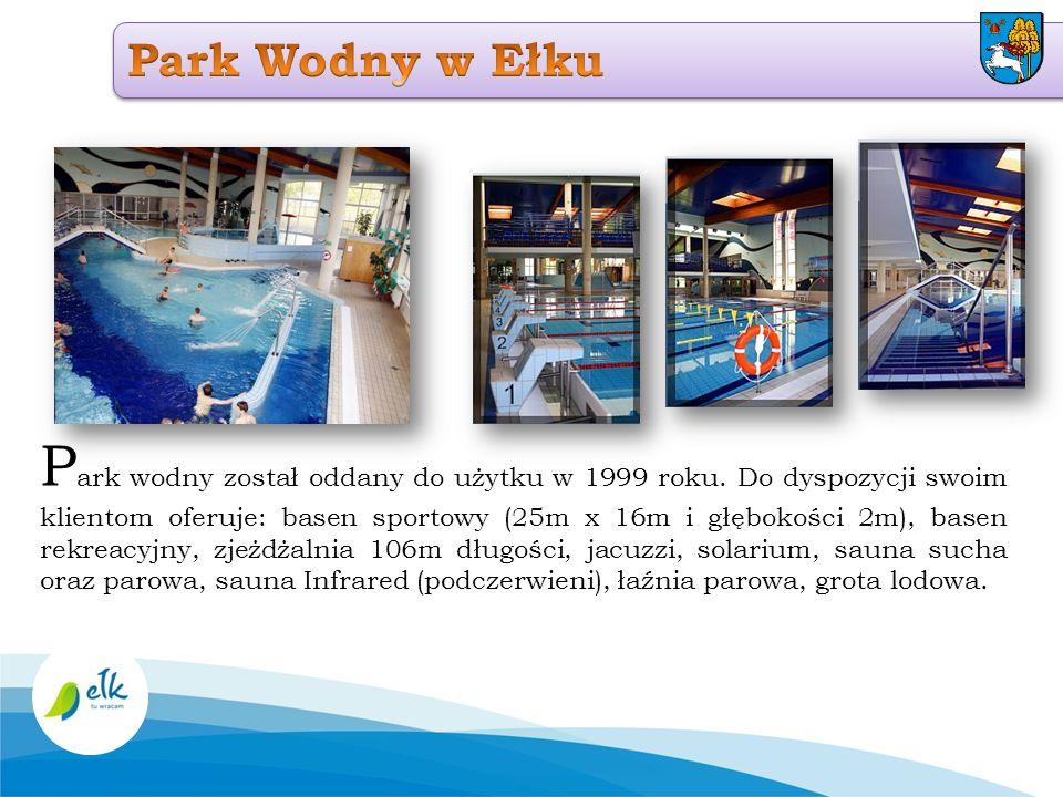 P ark wodny został oddany do użytku w 1999 roku. Do dyspozycji swoim klientom oferuje: basen sportowy (25m x 16m i głębokości 2m), basen rekreacyjny,