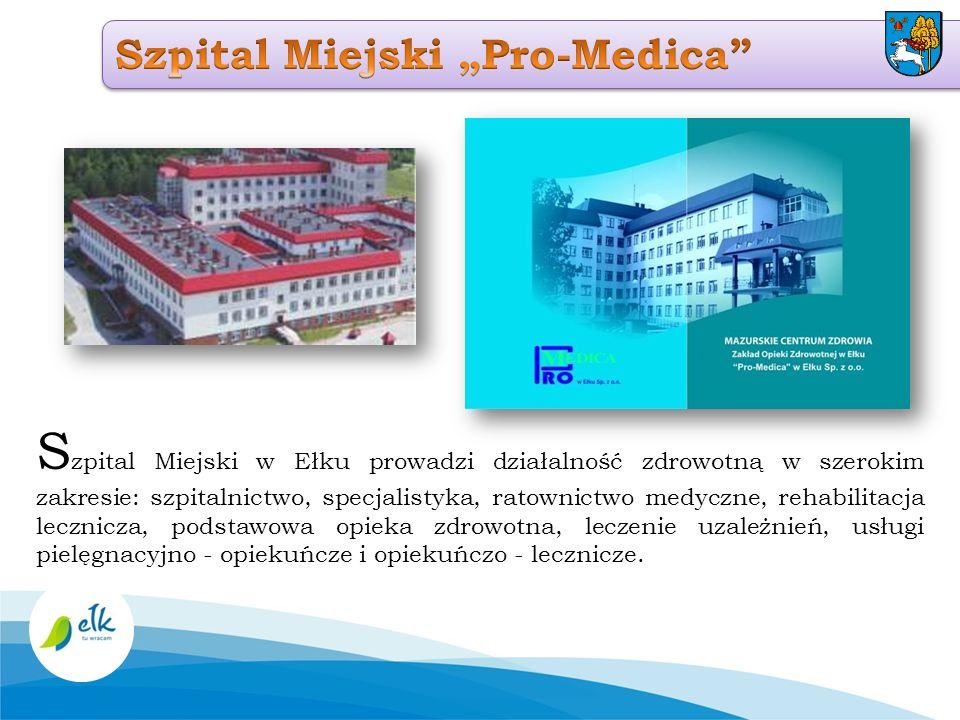 S zpital Miejski w Ełku prowadzi działalność zdrowotną w szerokim zakresie: szpitalnictwo, specjalistyka, ratownictwo medyczne, rehabilitacja lecznicz