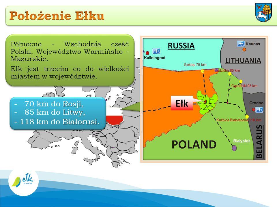 Region ten nazywany jest Krainą Tysiąca Jezior Miasto Ełk to największe i najludniejsze miasto na Mazurach oraz główny ośrodek przemysłowy i kulturalny w regionie.