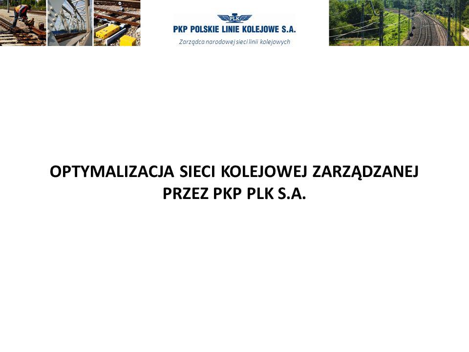 Zarządca narodowej sieci linii kolejowych OPTYMALIZACJA SIECI KOLEJOWEJ ZARZĄDZANEJ PRZEZ PKP PLK S.A.