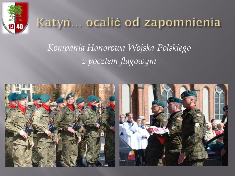 Kompania Honorowa Wojska Polskiego z pocztem flagowym