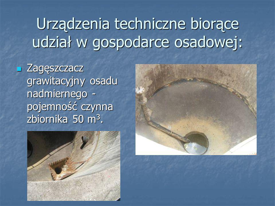 Gospodarka osadowa Pierwszym etapem obróbki osadów jest stabilizacja beztlenowa w zamkniętych komorach fermentacyjnych z równoczesnym odzyskiem biogazu.