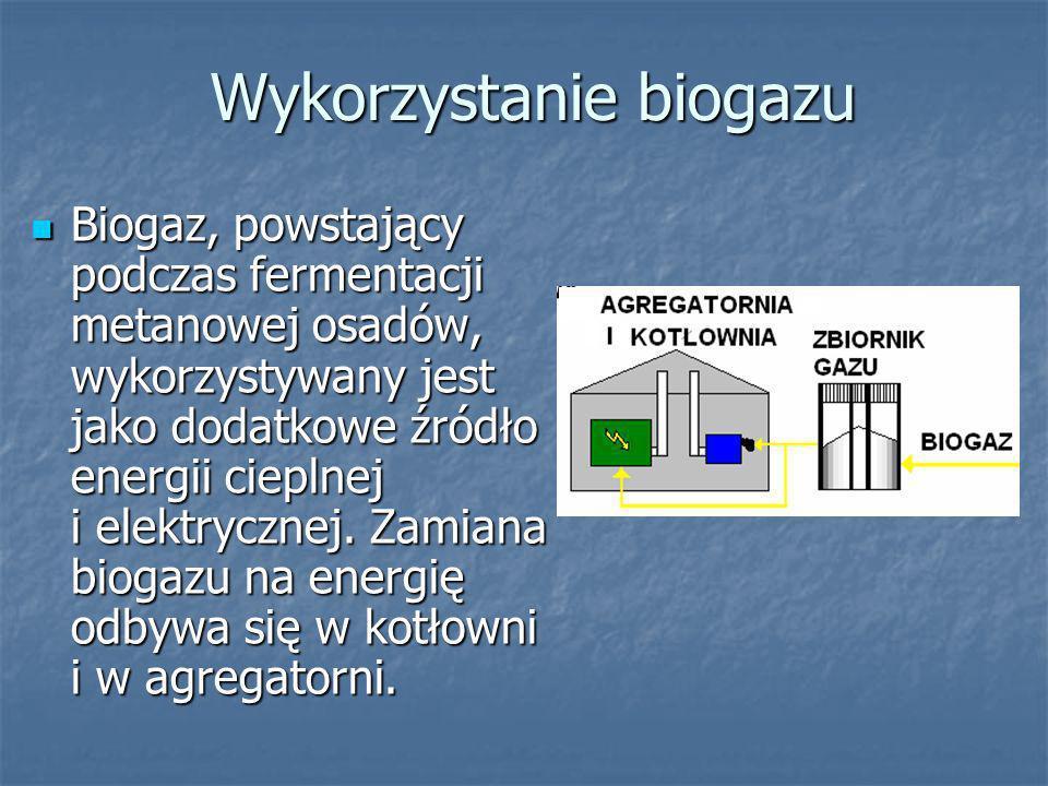 Gospodarka cieplna i energetyczna Schemat przedstawia urządzenia biorące udział w gospodarce osadowej i energetycznej oczyszczalni.
