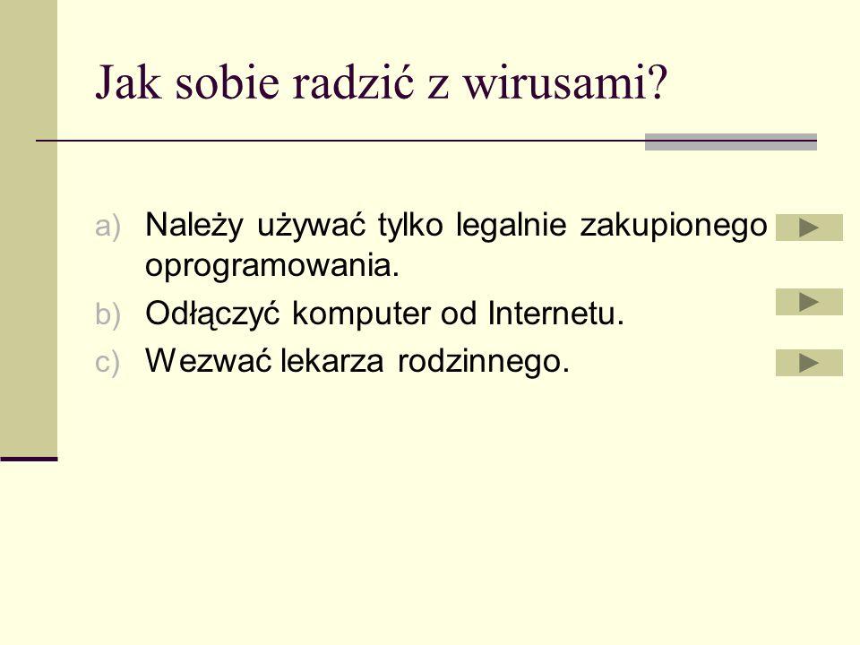 Do czego służy koń trojański? a) Poszukiwania złośliwego oprogramowania. b) Służy do komunikacji się z otoczeniem. c) Do przechwytywania haseł.