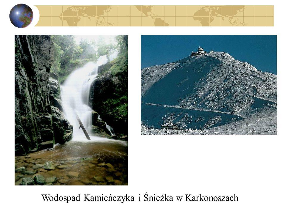 Wodospad Kamieńczyka i Śnieżka w Karkonoszach