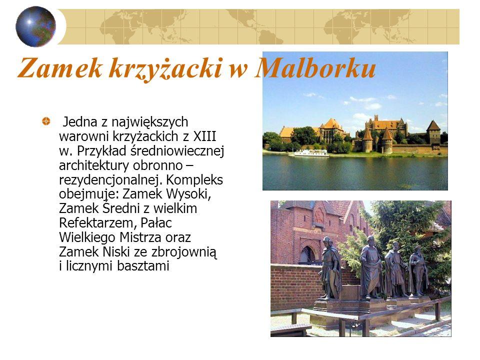 Jedna z największych warowni krzyżackich z XIII w. Przykład średniowiecznej architektury obronno – rezydencjonalnej. Kompleks obejmuje: Zamek Wysoki,
