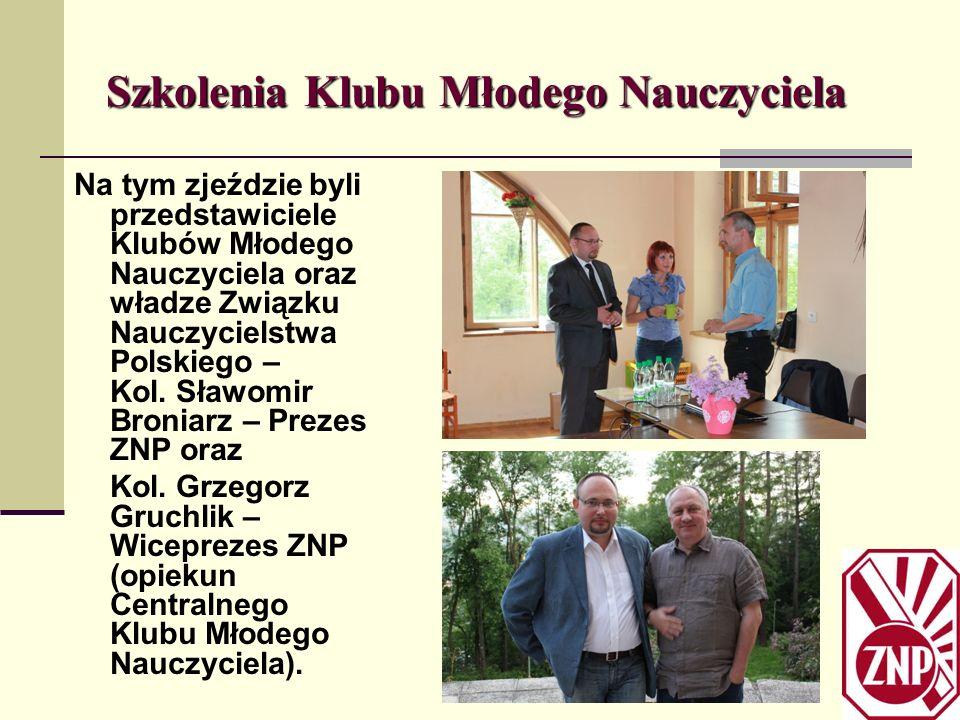 Szkolenia Klubu Młodego Nauczyciela Na tym zjeździe byli przedstawiciele Klubów Młodego Nauczyciela oraz władze Związku Nauczycielstwa Polskiego – Kol