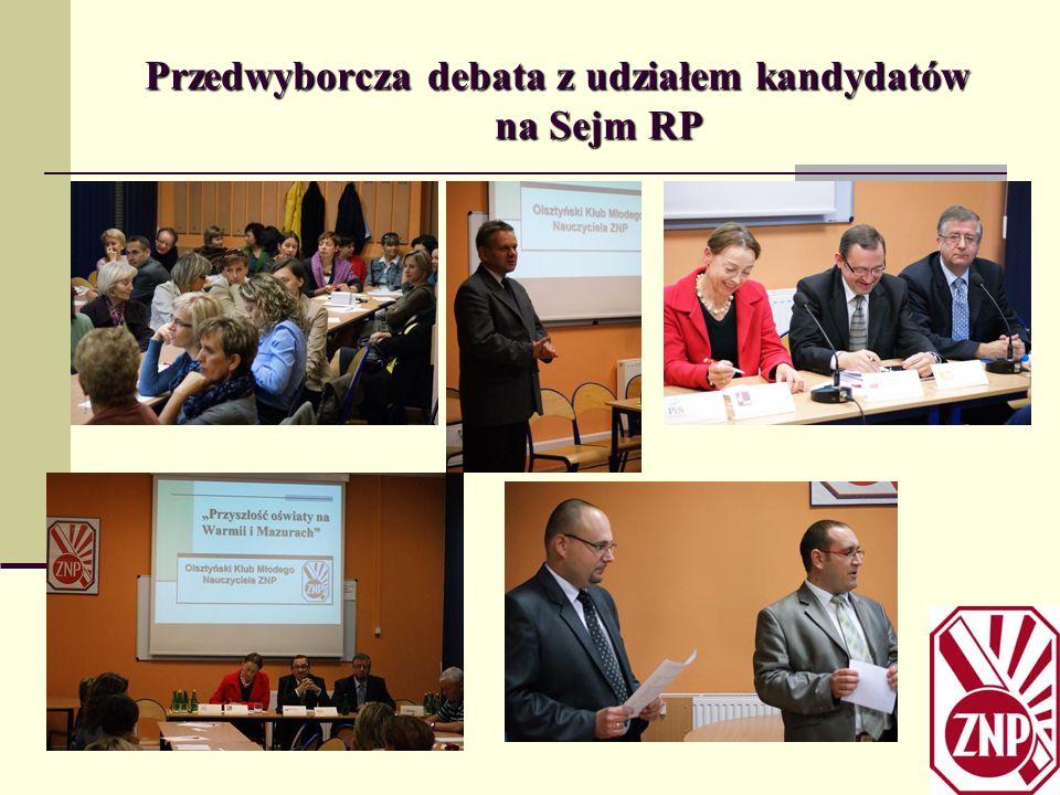 Przedwyborcza debata z udziałem kandydatów na Sejm RP