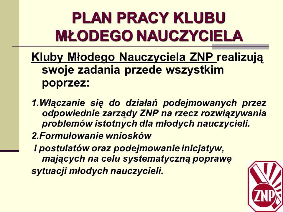 Działanie Klubów Młodego Nauczyciela na terenie woj.