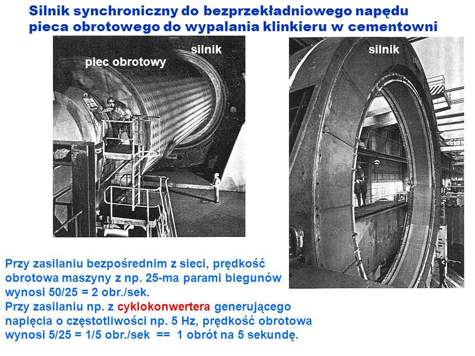 Silnik synchroniczny do bezprzekładniowego napędu pieca obrotowego do wypalania klinkieru w cementowni silnik piec obrotowy Przy zasilaniu bezpośredni