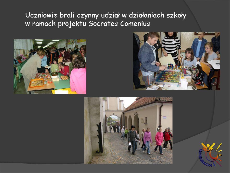 Uczniowie brali czynny udział w działaniach szkoły w ramach projektu Socrates Comenius