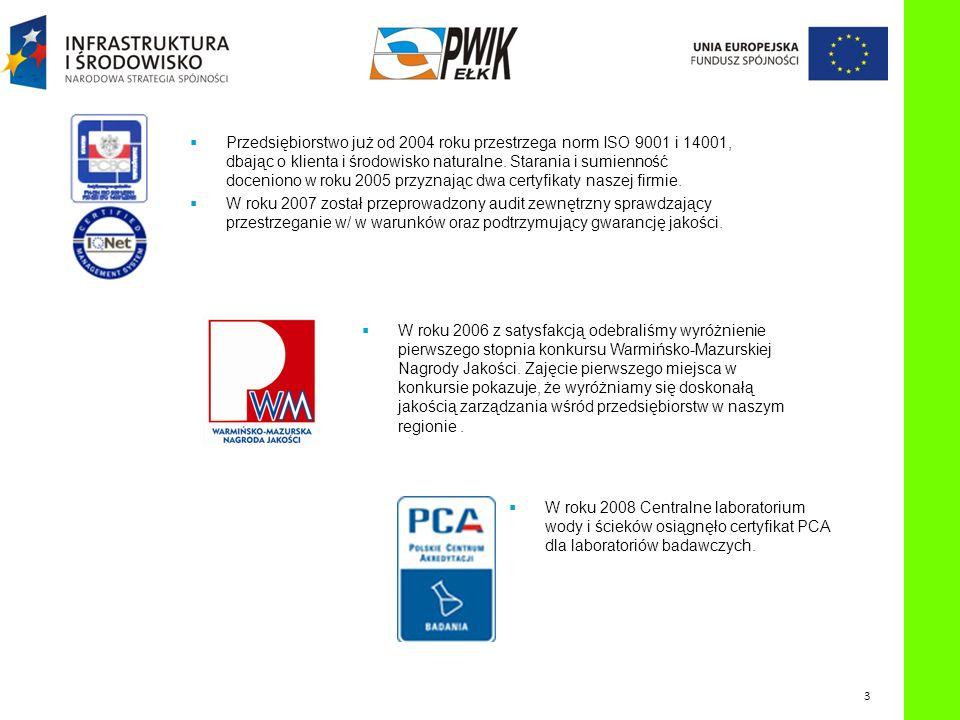 W roku 2006 z satysfakcją odebraliśmy wyróżnienie pierwszego stopnia konkursu Warmińsko-Mazurskiej Nagrody Jakości. Zajęcie pierwszego miejsca w konku