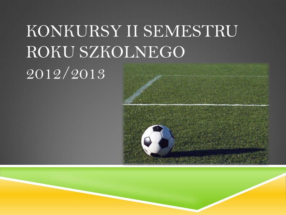KONKURSY II SEMESTRU ROKU SZKOLNEGO 2012/2013