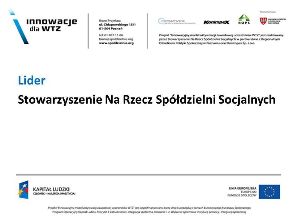 . Lider Stowarzyszenie Na Rzecz Spółdzielni Socjalnych