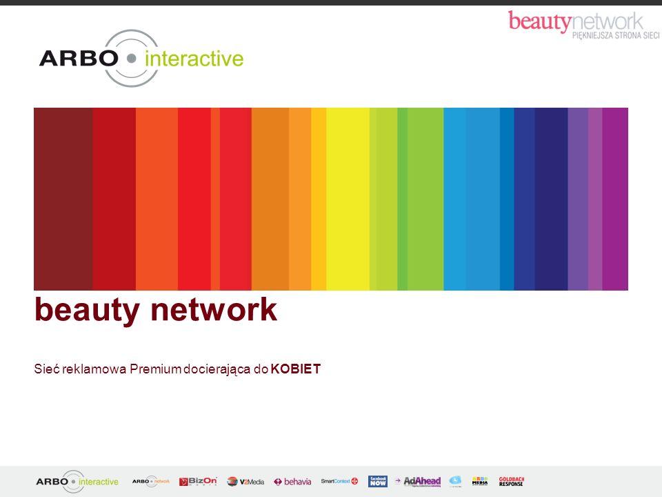 beauty network Sieć reklamowa Premium docierająca do KOBIET