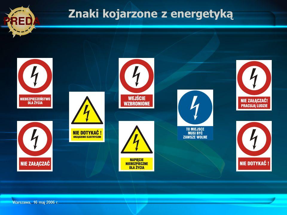 Warszawa, 16 maj 2006 r. Znaki kojarzone z energetyką