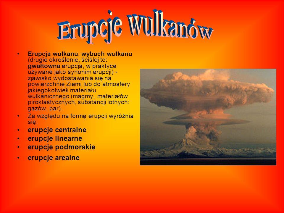 Erupcja wulkanu, wybuch wulkanu (drugie określenie, ściślej to: gwałtowna erupcja, w praktyce używane jako synonim erupcji) - zjawisko wydostawania si
