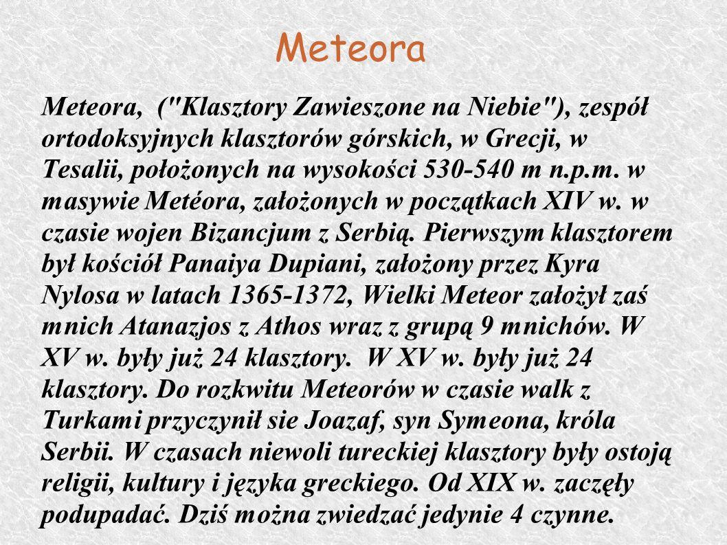 Meteora Meteora, (