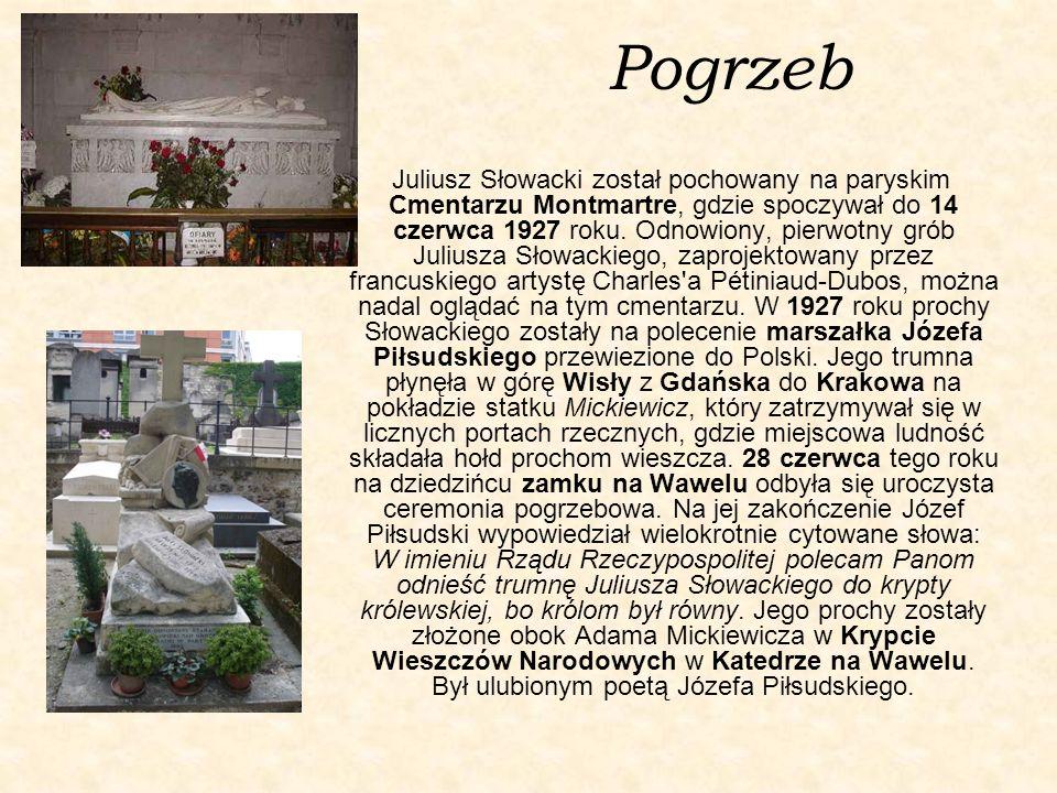 Twórczość Mimo iż Słowacki żył zaledwie 40 lat, jego twórczość literacka była obfita i różnorodna; poeta pozostawił po sobie 13 dramatów, blisko 20 poematów, setki wierszy, listów oraz jedną powieść.