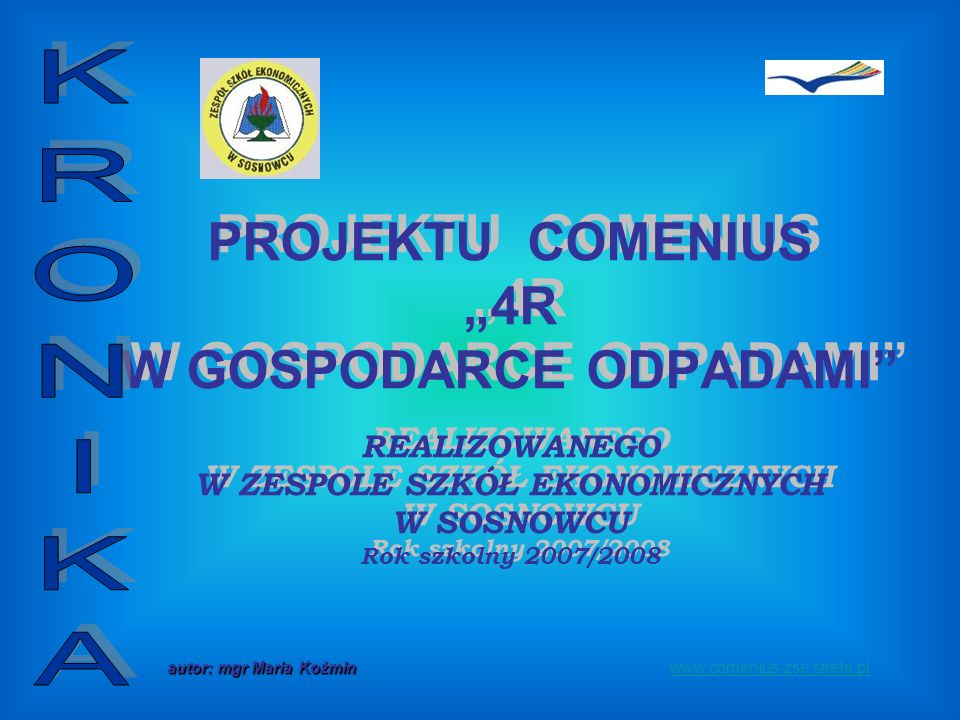 www.comenius-zse.strefa.pl STYCZEŃ 2008 Pracujemy nad projektem puzzli ekologicznych