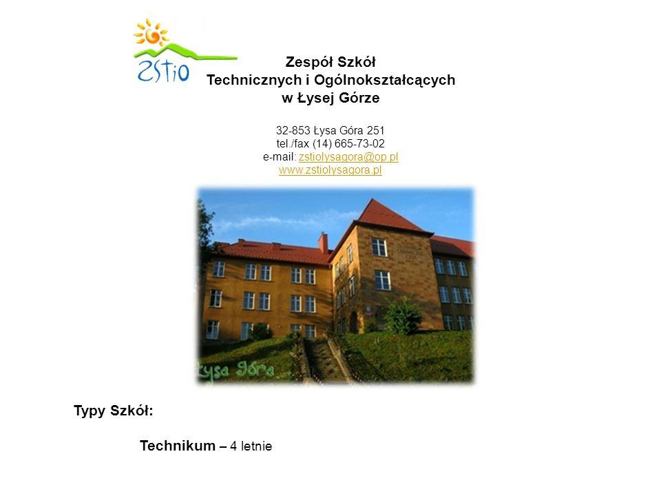 Technikum - 4 letnim dla młodzieży na podbudowie programowej gimnazjum: - technik ekonomista – przedmioty rozszerzone : j.