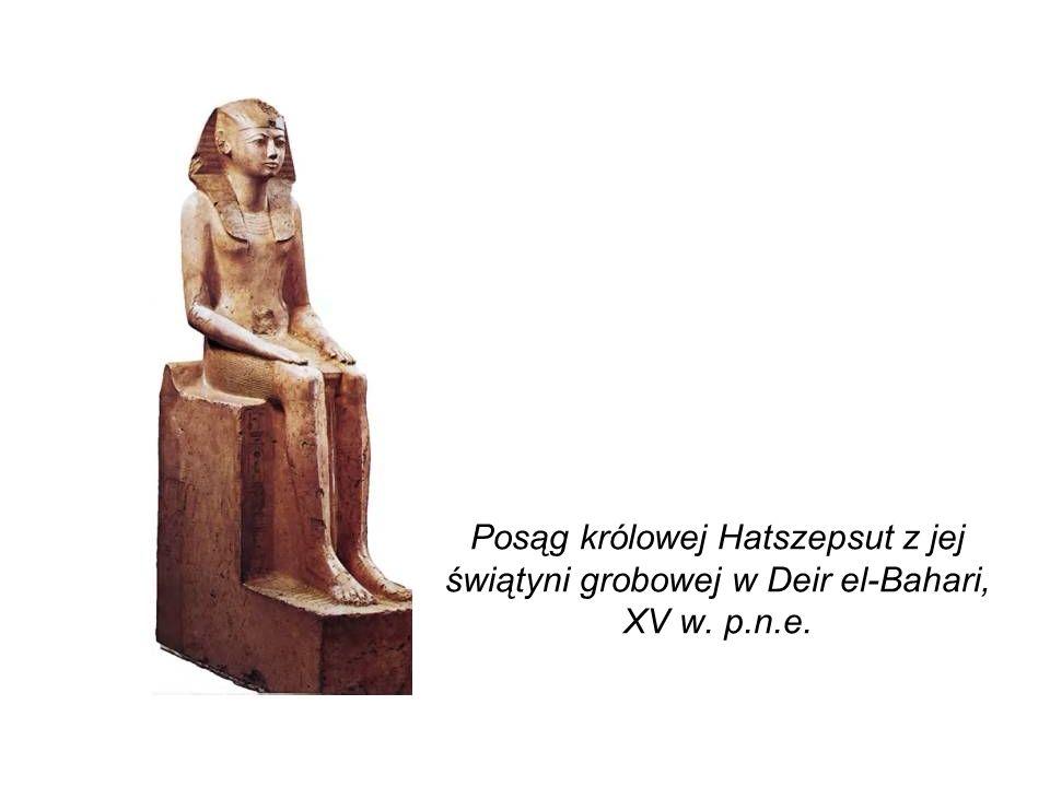 Posąg królowej Hatszepsut z jej świątyni grobowej w Deir el-Bahari, XV w. p.n.e.