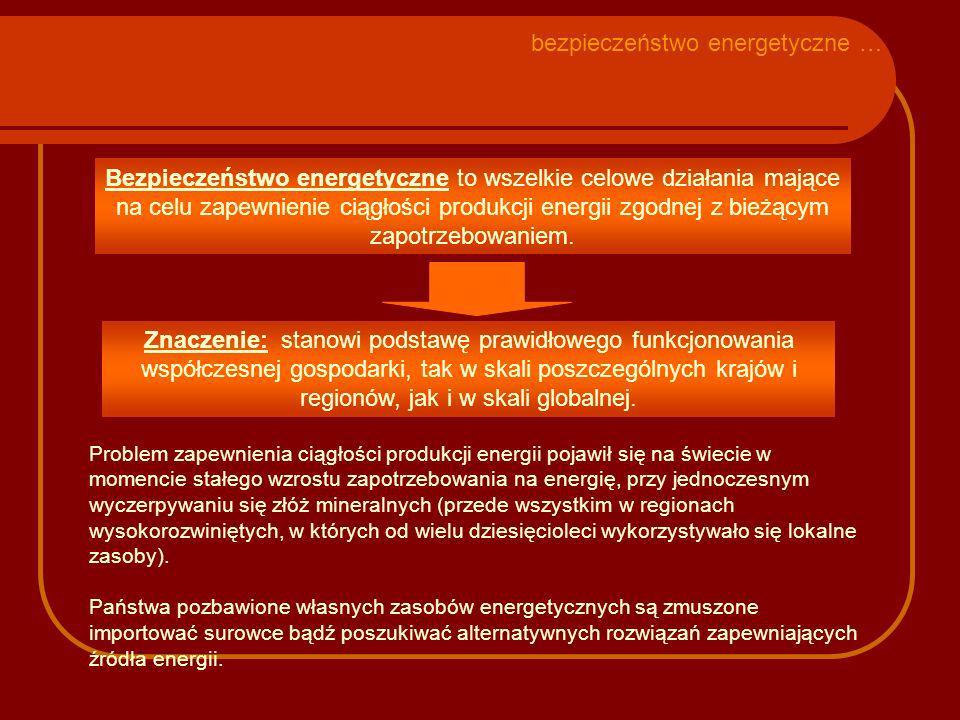 Przyczyny zmian polityki energetycznej: - dostępność źródeł energii (wielkość zasobów własnych, ceny na rynku światowym); - efektywność wykorzystania różnych surowców energetycznych; - forsowanie przez różne grupy interesu bardzo kosztownej tzw.