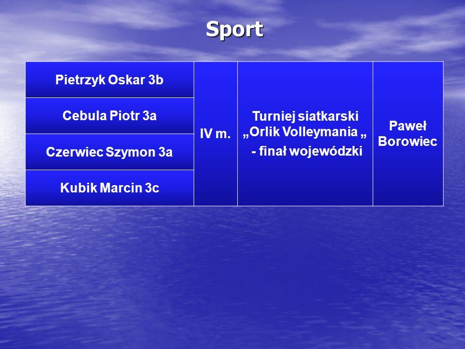 Sport Pietrzyk Oskar 3b IV m.
