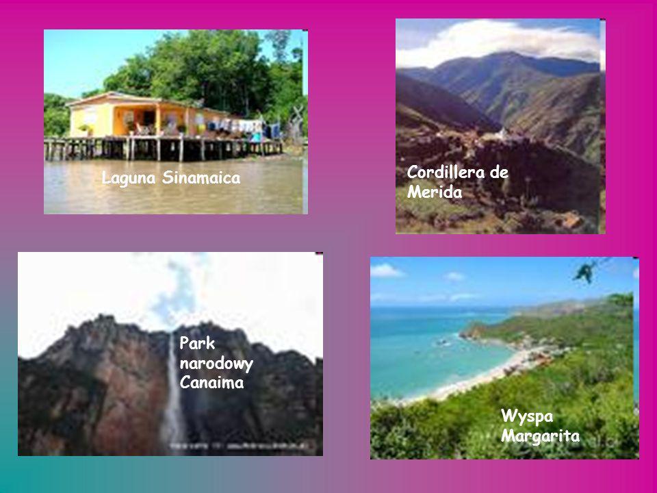 Laguna Sinamaica Cordillera de Merida Wyspa Margarita Park narodowy Canaima