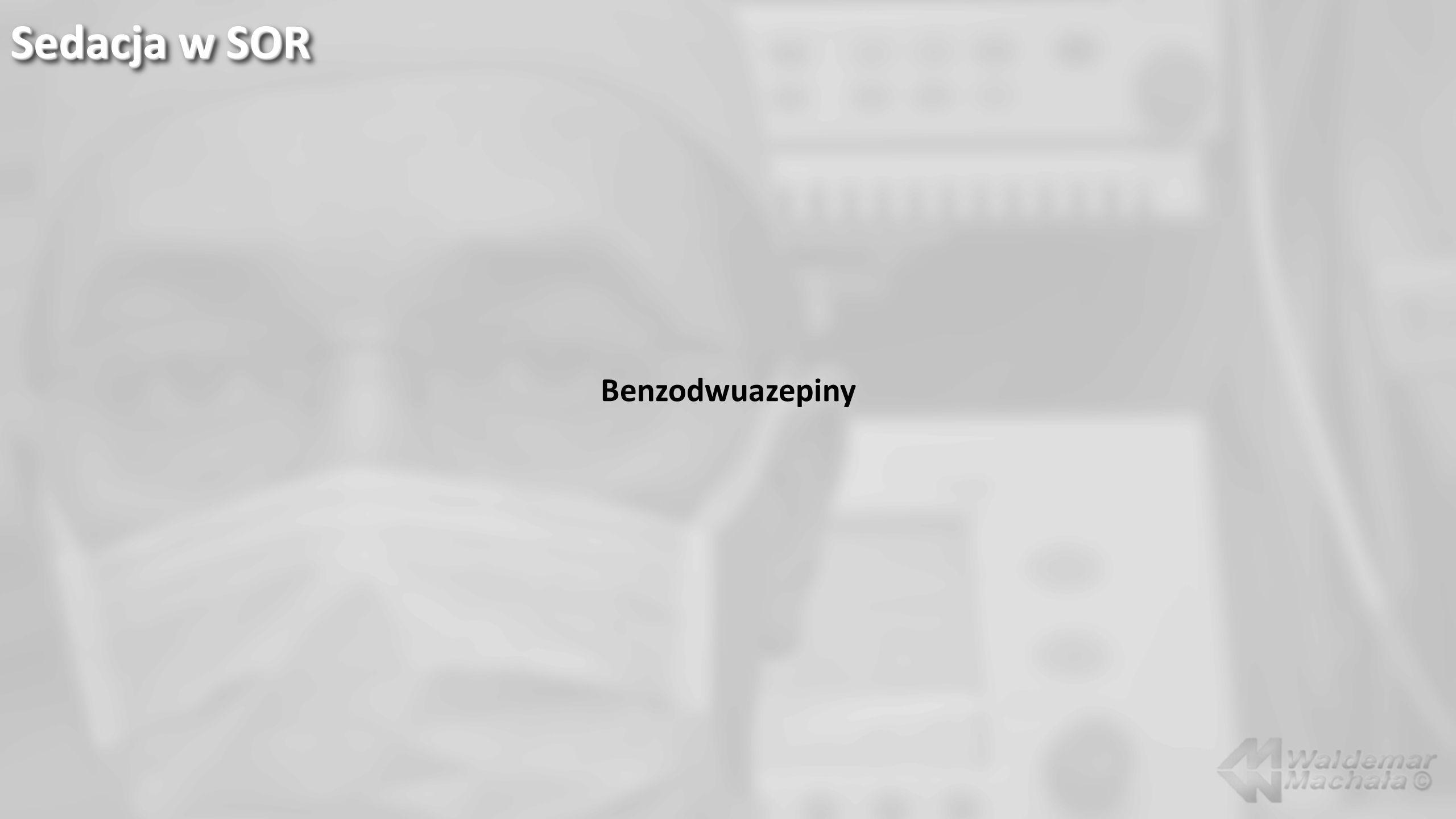 Benzodwuazepiny Sedacja w SOR