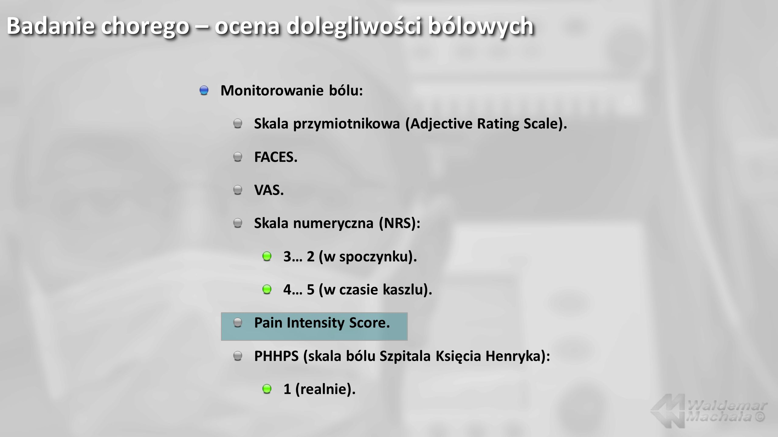 Uśmierzanie bólu w warunkach polowych pomoc przedszpitalna; tryb pod ostrzałem(Care Under Fire); Wojsko Polskie – FOB Ghazni Morfina: Autostrzykawka (20 mg).