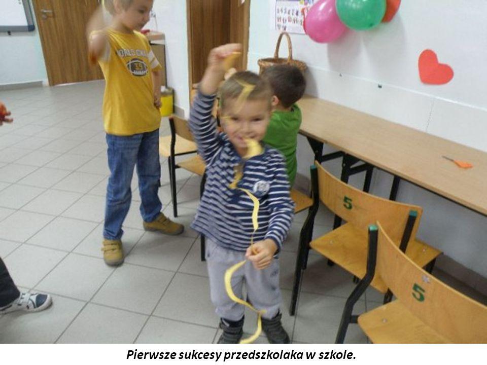 Pierwsze sukcesy przedszkolaka w szkole.
