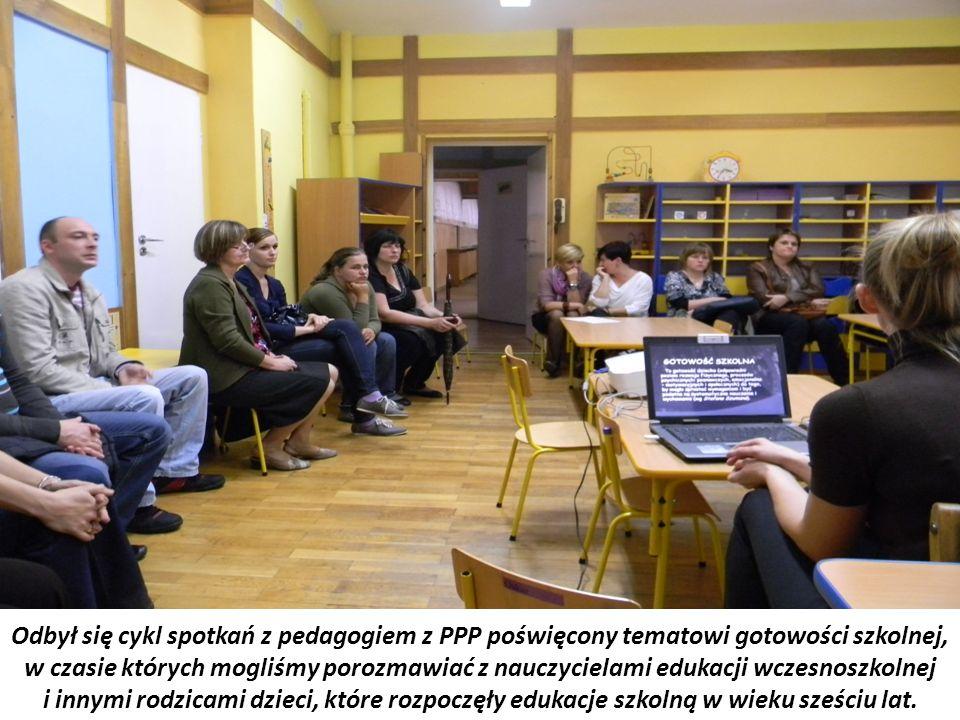 Odbył się cykl spotkań z pedagogiem z PPP poświęcony tematowi gotowości szkolnej, w czasie których mogliśmy porozmawiać z nauczycielami edukacji wczes