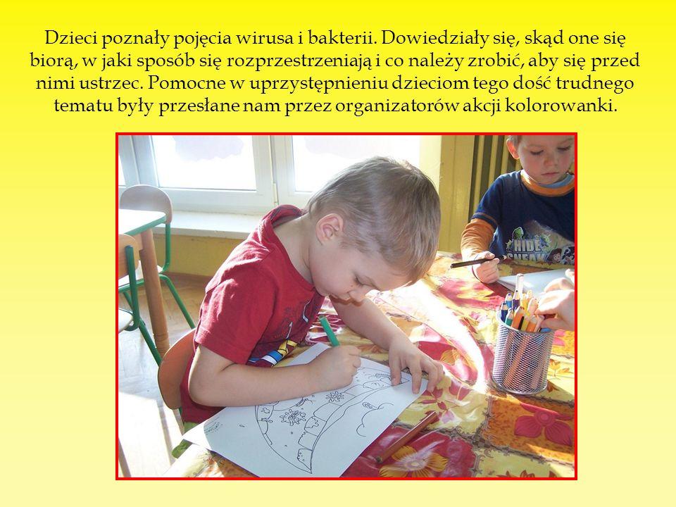 Dzieci poznały pojęcia wirusa i bakterii.