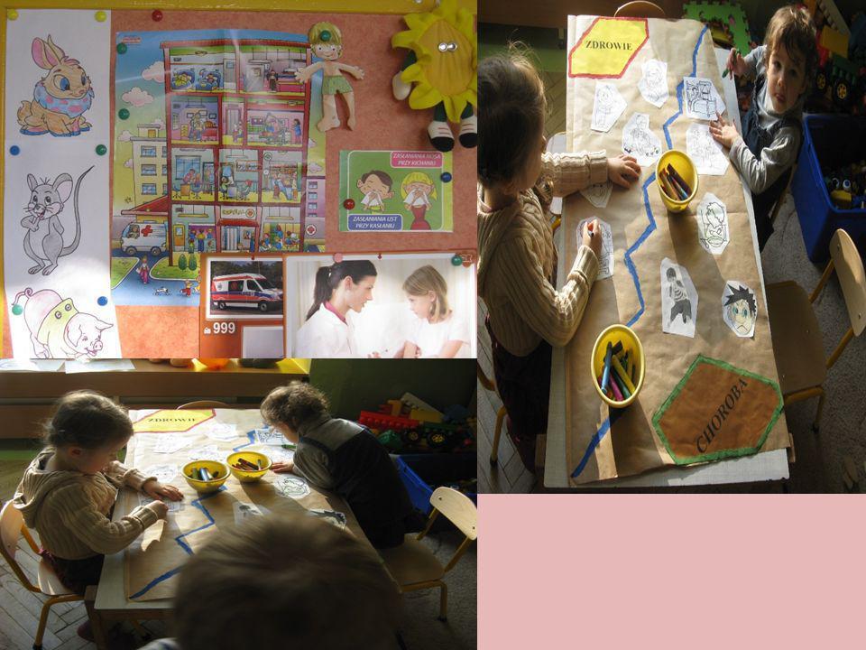Część II – WIRUSY I BAKTERIE Aby przybliżyć dzieciom pojęcia wirusów i bakterii odczytana została bajka edukacyjna pt.
