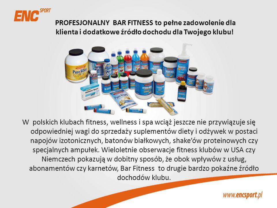 PROFESJONALNY BAR FITNESS to pełne zadowolenie dla klienta i dodatkowe źródło dochodu dla Twojego klubu! W polskich klubach fitness, wellness i spa wc
