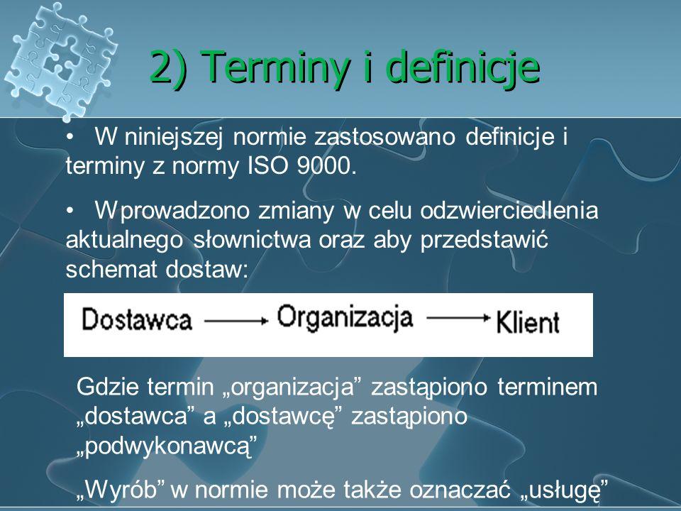 1) Norma powołana Gdy możemy się powołać na normie ISO 9001 to znaczy to samo, że postanowiony dokument normatywny jest równoważny postanowionej normi