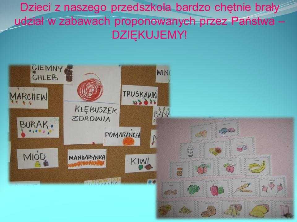 Dzieci z naszego przedszkola bardzo chętnie brały udział w zabawach proponowanych przez Państwa – DZIĘKUJEMY!
