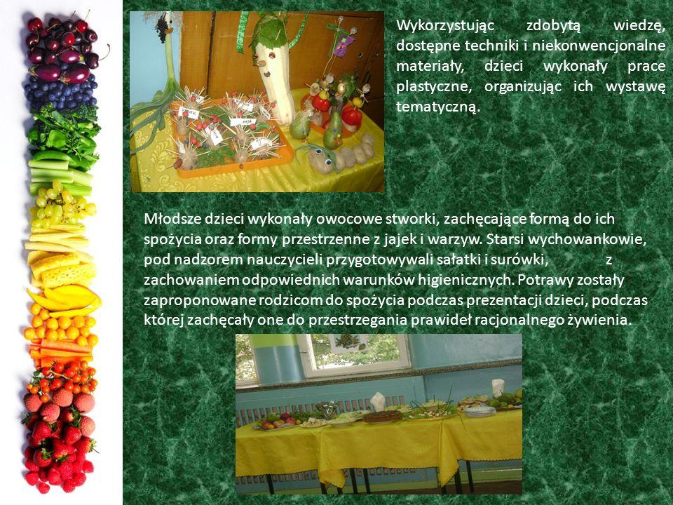 Wykorzystując zdobytą wiedzę, dostępne techniki i niekonwencjonalne materiały, dzieci wykonały prace plastyczne, organizując ich wystawę tematyczną. M